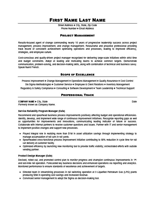 program manager resume best resumes