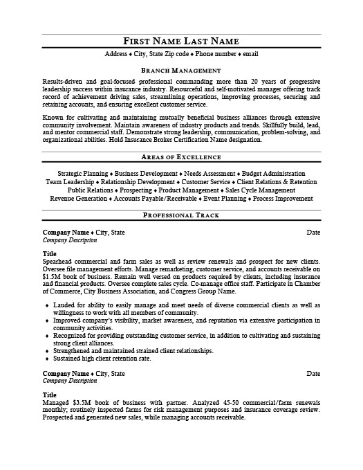 Branch Manager Resume Template Premium Resume Samples Example