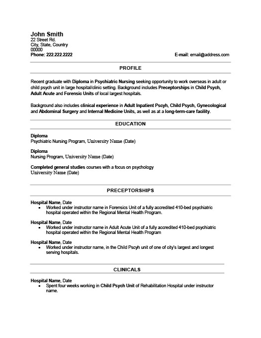 Recent Graduate Resume Great Ideas