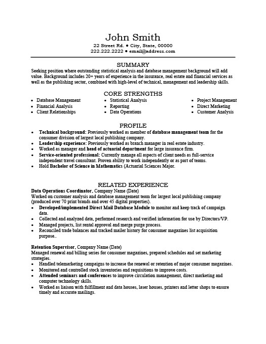 data operations coordinator resume template premium