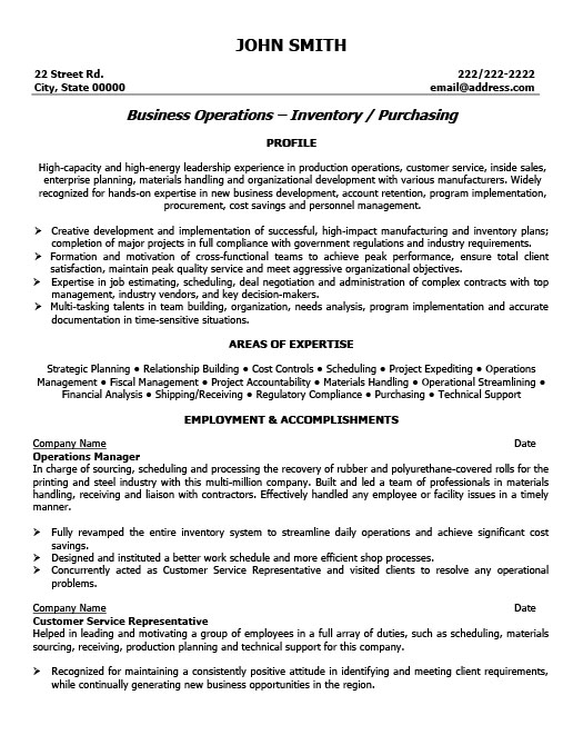 Operations Manager Resume Template | Premium Resume Samples & Example