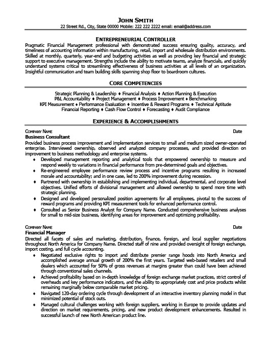 business coach resume