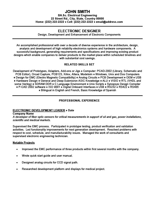 Electronic Resume free electrical systems engineer resume example jobaspirations com Electronic Designer Resume Template Premium Resume Samples Example