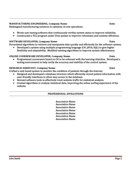 Control Systems Engineer Resume Template | Premium Resume Samples U0026 Example