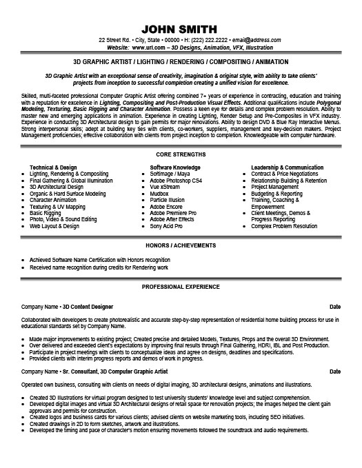 Sample Artist Resume | Resume Cv Cover Letter