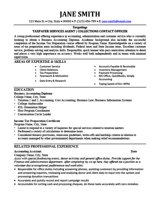 Tax Consultant Resume Template | Premium Resume Samples & Example