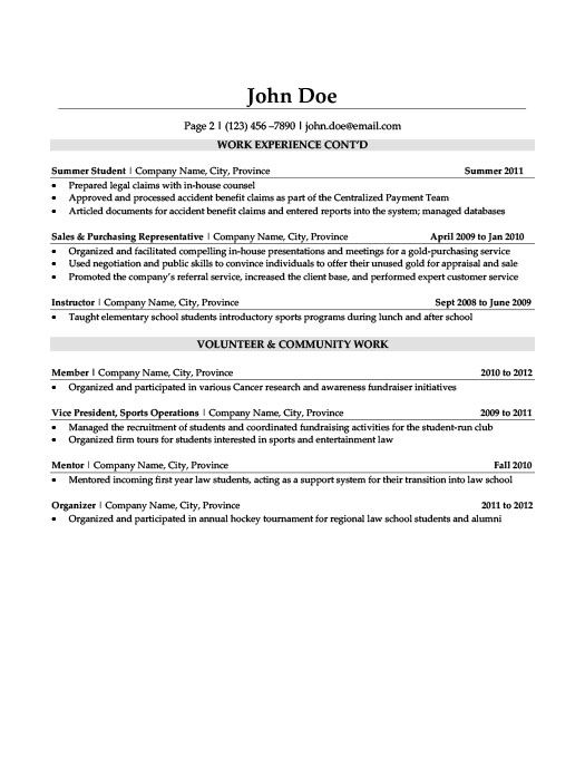 Litigation Lawyer Resume