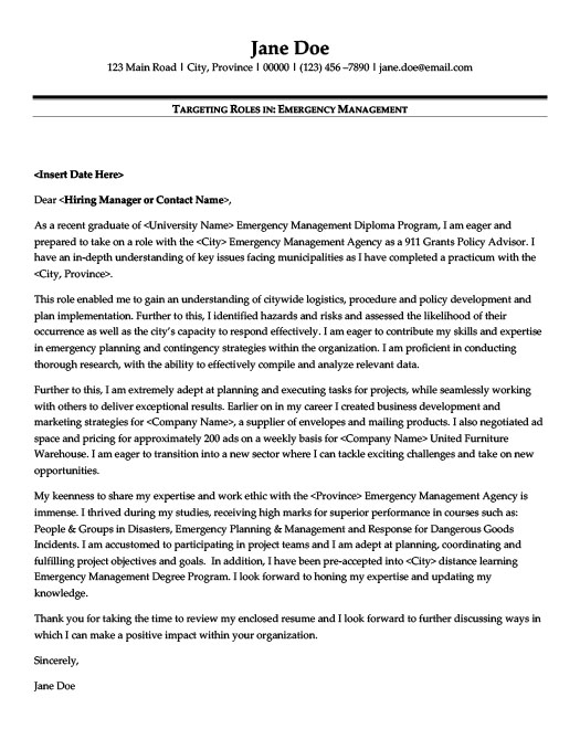 Emergency Management Resume Template | Premium Resume Samples & Example