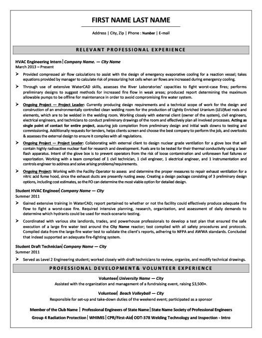 Mechanical Engineer-In-Training Resume Template | Premium Resume