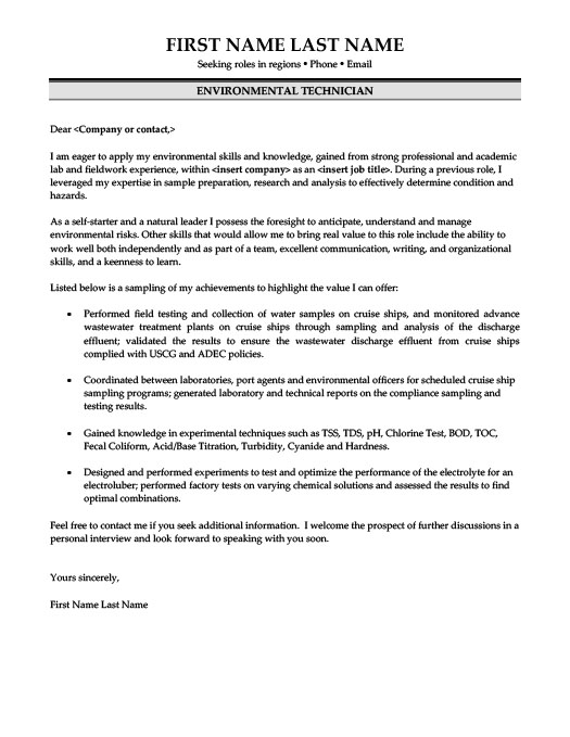 technician cover letter special effects technician cover letter