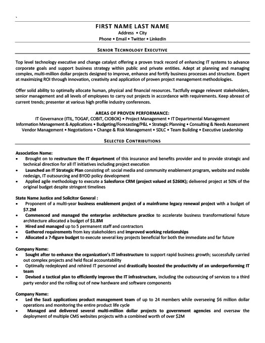 vice president of operations resume template