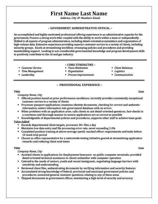 peace officer resume template