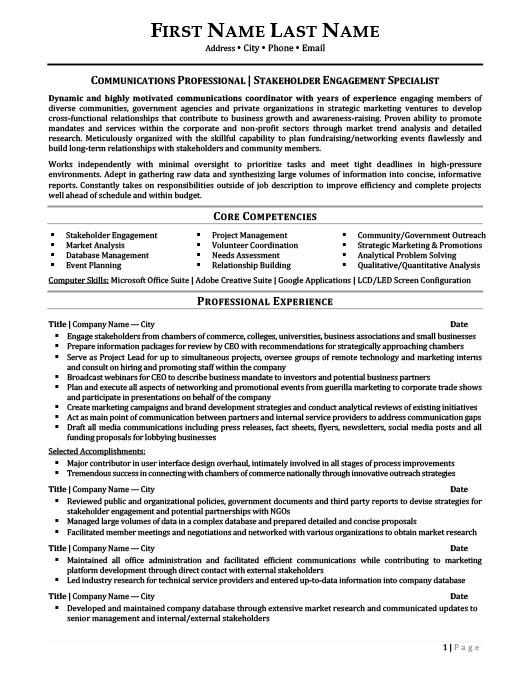relations representative resume template premium