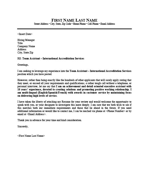 consular assistant cover letter - Etame.mibawa.co