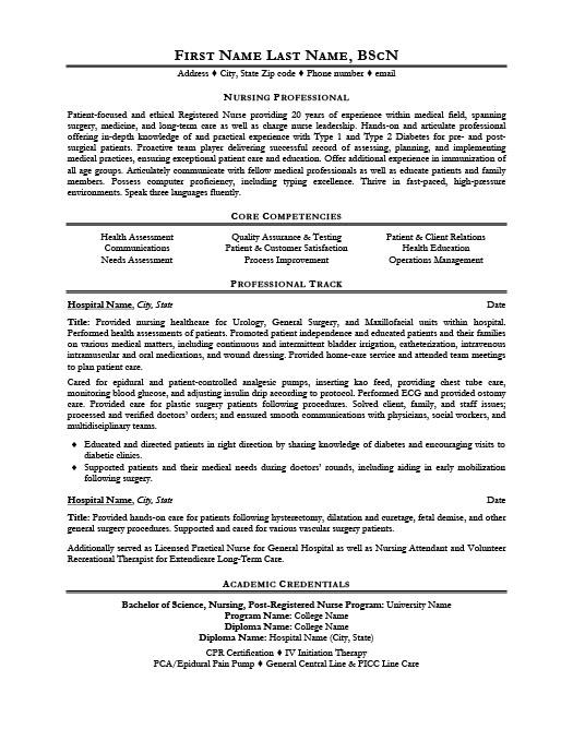 nursing professional resume template premium resume samples
