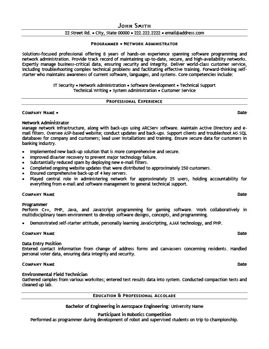 network administrator resume template premium resume samples