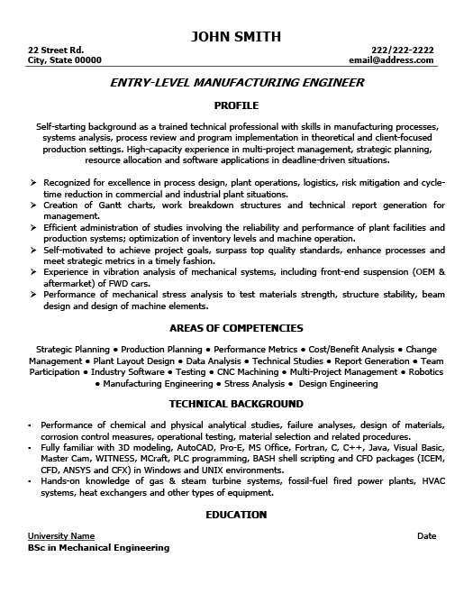 manufacturing engineer cover letter job winning manufacturing
