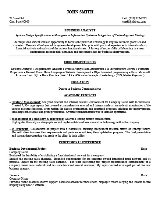 Business Analyst Resume Template | Premium Resume Samples & Example