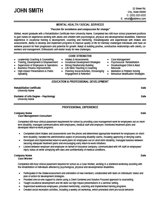 Case Management Consultant Resume Template | Premium Resume Samples ...