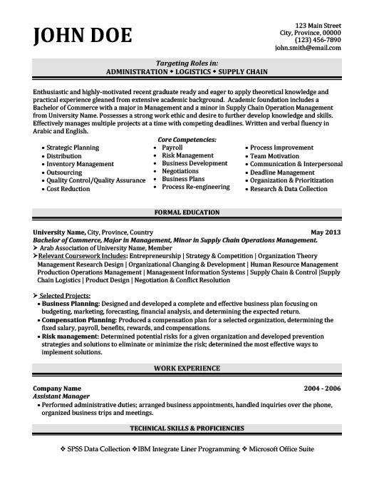 Administration Logistics Resume  Logistics Resume