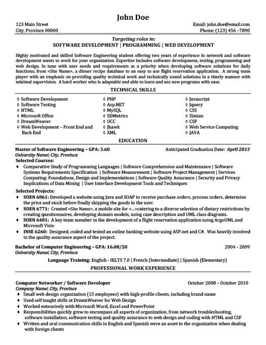 Software Development | Programming | Web Development Resume  Software Development Resume