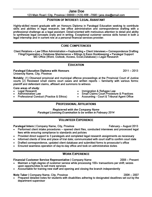 legal assistant resume - Legal Assistant Resume