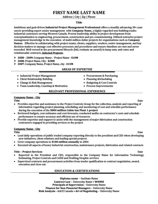 senior recruiter or consultant resume template