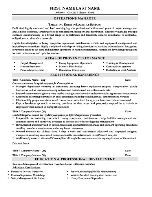 materials manager resume template premium resume sles
